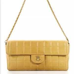 Chanel Chocolate Bar E/W Flap Quilted Chain Bag